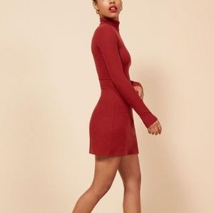 ☯️ Reformation Dress Reformation Roberts Deep Red